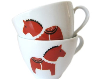 SALE! porcelain stickers DALA HORSE