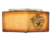Mens Leather Wallet - Bifold Wallet - Personalized Wallet - Harry Potter Ravenclaw