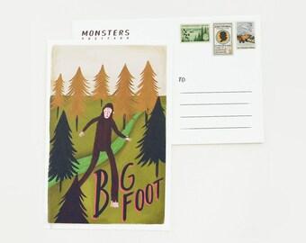 Big Foot Postcard 1pc