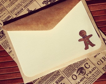 Gingerbread Man Notecards (set of 5)