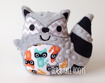 Stuffed Raccoon - Plush Raccoon - Stuffed Animal - Woodland Animal - Nursery Decor - New Baby Keepsake - Woodland Nursery - Baby Shower Gift