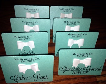 Baby and Co Bride and Co Bow Tent Cards