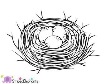 Popular items for nest clip art on Etsy