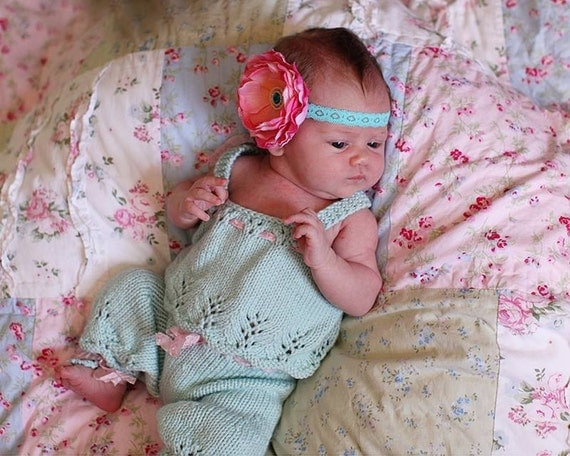 SALE-New! Newborn Pantaloons and Tank Set, Hand Knit With Lace, Baby Girls, Blue, Pink, Spring, Photography Props, Twins