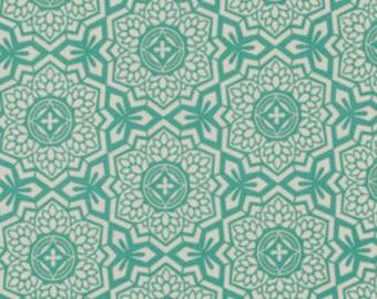 Botanique Mosaic Bloom Teal by Joel Dewberry for FreeSpirit