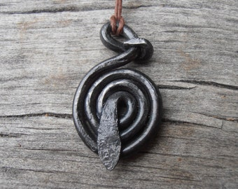 Traditional Norse Coiled Serpent Baltic Goddess Amulet 2 (Viking Norse Pagan Heathen) (Made to order)