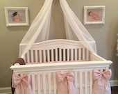 All Silk Bow Accents for Babies, Cribs, Cradles, Room Decor, Curtain Tie-backs available in all colors