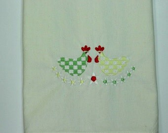 Rooster design kitchen towel