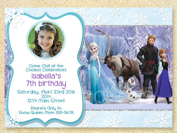 Frozen Invitations Ideas with amazing invitations layout