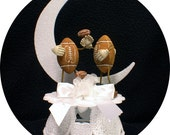 Football Lovers ball Wedding Cake Topper Touch Down #1 sports groom top
