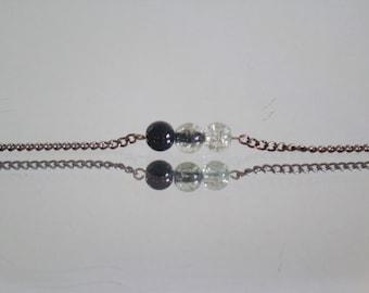 Grey Ombre Glass Bracelet