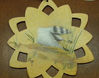 Ornament Raccoon Vanishing Night Spirit Acrylic Painting