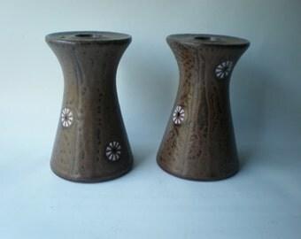 SALE Pretty Mid Century Ceramic Candlesticks