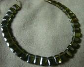 A+  Top  Drilled  Emerald  Cut  Olivine  Cubic  Zirconia  Strand