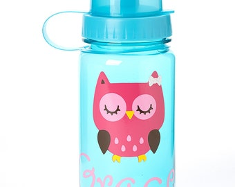 Kids Personalized Owl Water Bottle- Great Party Favor, Kids Personalized Party Favor, Kids Cup, Kids Water Bottle