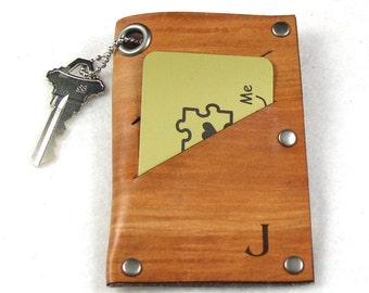Set of 6 Personalized Wallet - Groomsmen Gift Leather Wallet -  Slim Wallet Minimalist Style - FREE Monogramming