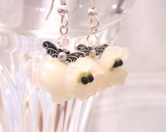When Pigs Fly - Swarovski Crystal and Lampwork Bead Dangle Earrings, Unique, OOAK, SRAJD