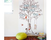 Sarah Jane Custom EXTRA LARGE Family Tree Eco-Friendly Reusable Fabric Wall Decals by Pop & Lolli