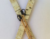Special order Birch bark boutonnieres for Sarah and Erik