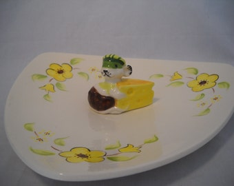 Vintage Cheese Platter Little Mouse Serving Dish