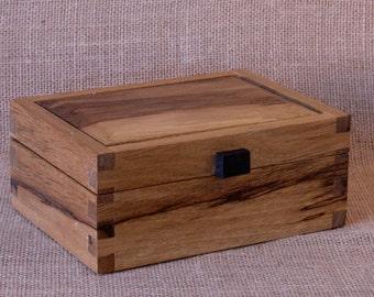 Black Limba, exotic wood, finger-jointed box # 1