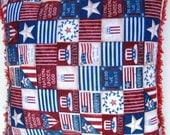 Patriotic Reading Pillow Red White and Blue - Library Book Corner Pillow - Ready to Ship