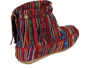Zarape Ethnic Tribal Zip Up boots