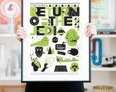 Star wars poster, star wars nursery, star wars print, film poster, movie poster, Scandinavian print, ,man cave decor, Return of the Jedi A3