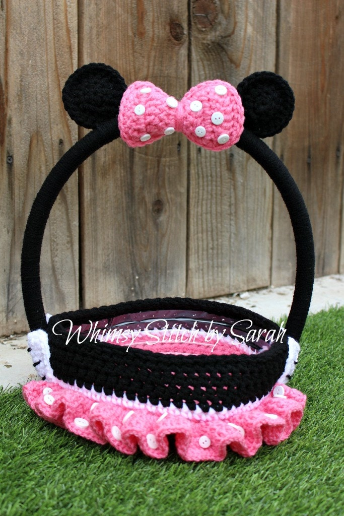 Minnie Mouse Basket Halloween Or Easter By Whimsystitchbysarah