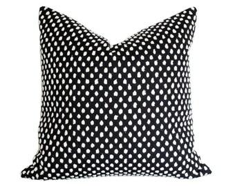 Pebble Onyx Designer Pillow Cover with velvet back - Environmentally Sustainable 16x16