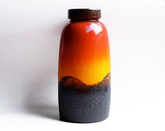 Large West German Lava Vase - Floor Vase by Scheurich