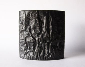 RESERVED Mid Century XL Porcelain  Black Matte Vase - M. Freyer for Rosenthal 1970s
