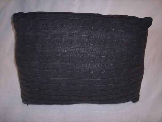 Grey Knit Throw Pillow : Items similar to Large grey sweater cable knit Decorative Pillow, Throw Pillow, Toss Pillow ...