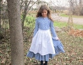Girls Prairie Apron without Pocket - Pioneer Apron