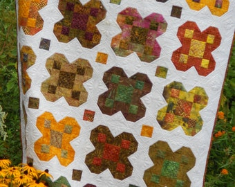 Quilt Pattern - Harvest Blooms - Blossom Quilt Pattern