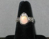 Ethiopian Opal Ring, Sterling Silver, Size 6 3/4