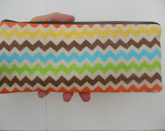 Chevron Bermuda zig zag Pencil Case/cosmetic pouch-