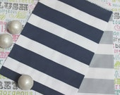 50 Navy and Silver Rugby Stripe Candy Bags, Navy Blue Wedding Favor Bags, Navy Popcorn Bags, Candy Bags, Cookie Bags, Nautical Treat Bags