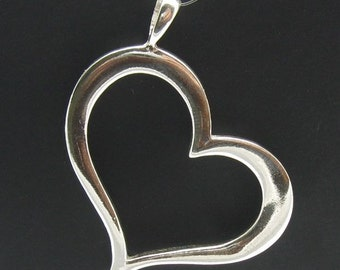 PE000007 Sterling silver pendant  925 Heart Charm