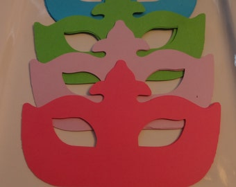 Paper Mask- Set of 12.  Pick your color.  Please leave which colors you would like.  Up to 4 colors.