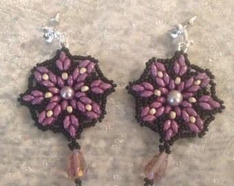 Purple Duo Earrings