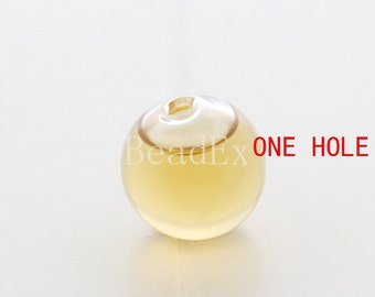 6pcs / Hand Blown / Hollow Glass Beads / Near Round / One Hole 20mm (28H2/G133)