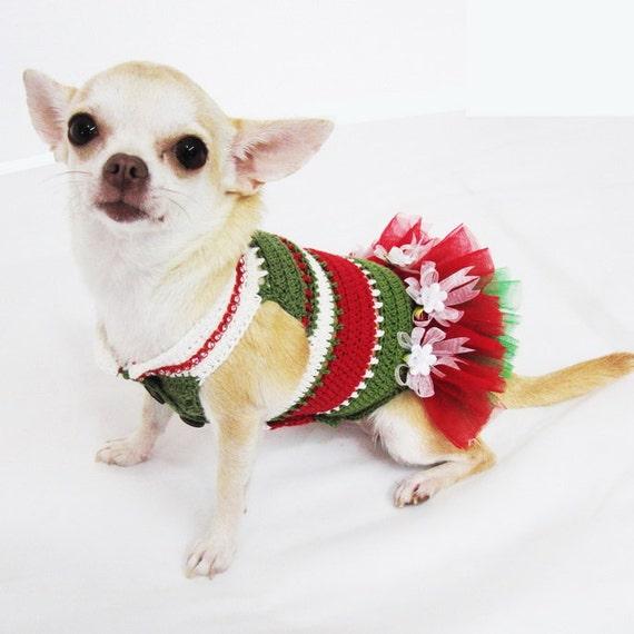 Items Similar To Christmas Dog Tutu Dress Cute Red Green