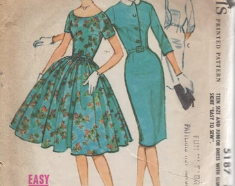 50's Vintage Easy McCall's - Sheath Dress Pattern-  Size 12