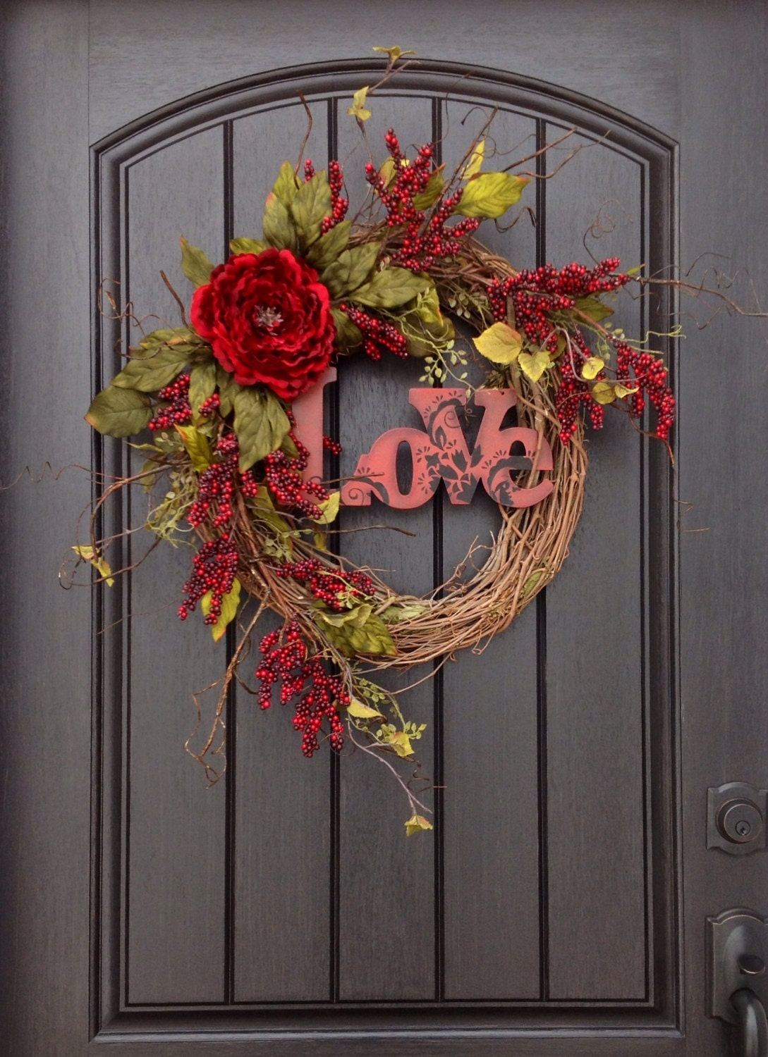 Valentines Day Wreath Door Decor Love