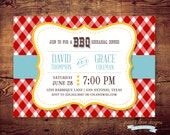 Printable BBQ Country Chic Rehearsal Dinner Invites (digital file) DIY Printing at home