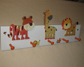 "Little tykes ""jungle animals"" coat rack (orange) (convo me for your colors)"