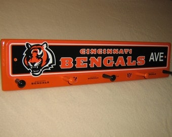 "Cincinnati Bengals coat rack ""hangup""  (convo me for your favorite team)"