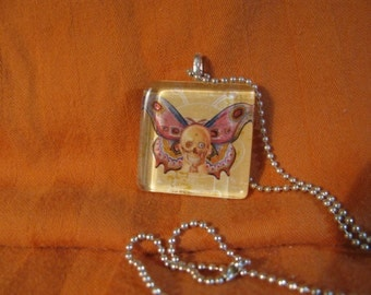 Skull Butterfly Necklace