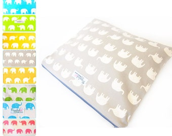 EX-LARGE Zippered Wet Bag / Diaper Case / Nappy Wallet with an Optional Wristlet - Elephant (Choose Your Color)